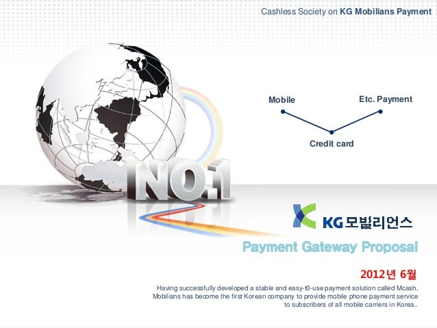 Cashless Society on KG Mobilians Payment                                       Mobile                         Etc. Payment...
