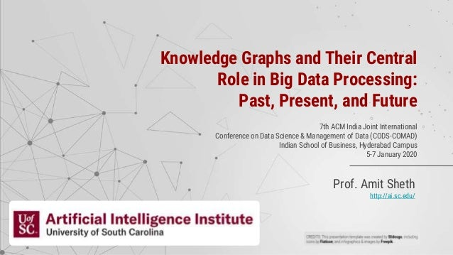 Prof. Amit Sheth http://ai.sc.edu/ Knowledge Graphs and Their Central Role in Big Data Processing: Past, Present, and Futu...