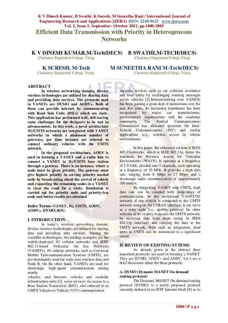 K V Dinesh Kumar, B Swathi, K Suresh, M Suneetha Rani / International Journal of        Engineering Research and Applicati...