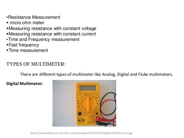 Ohmmeter Good Measurements And A High Low : Assignment