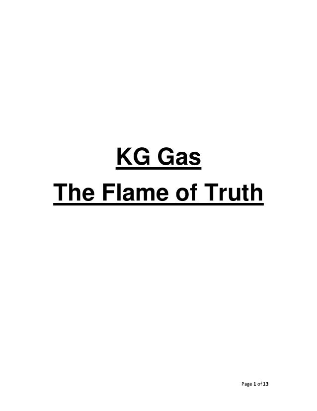 Page 1 of 13    KG Gas The Flame of Truth