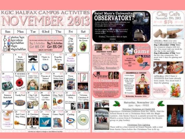 KGIC Halifax November 2013 Activities