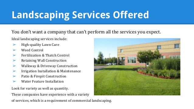 Secrets from the experts how to choose a commercial for Commercial landscaping services