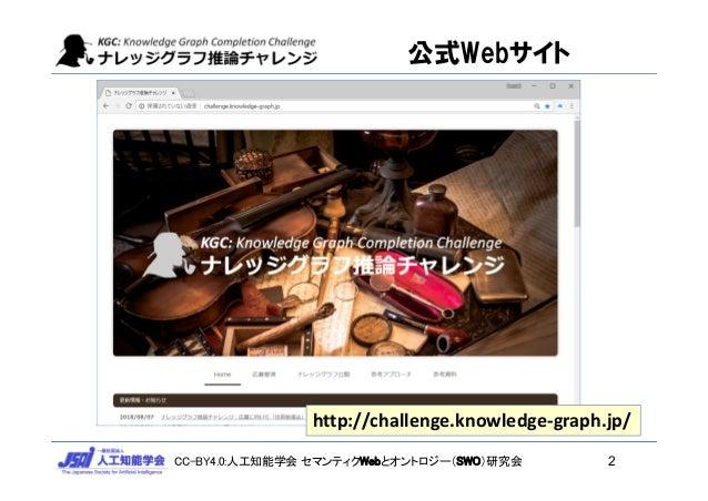ナレッジグラフ推論チャレンジ技術勉強会(2018/10/18) Slide 2