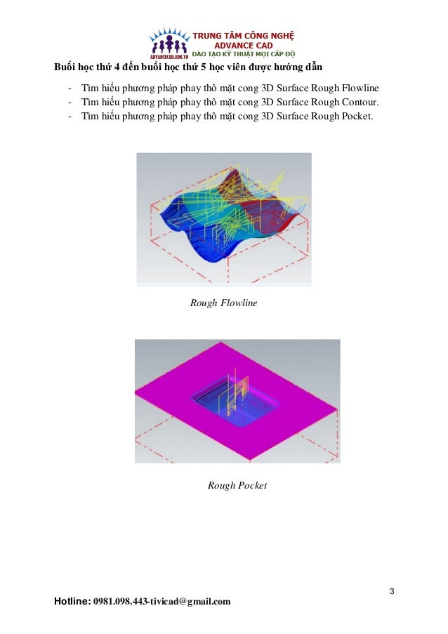 Đào tạo gia công khuôn, phay 3D Mastercam) Slide 3