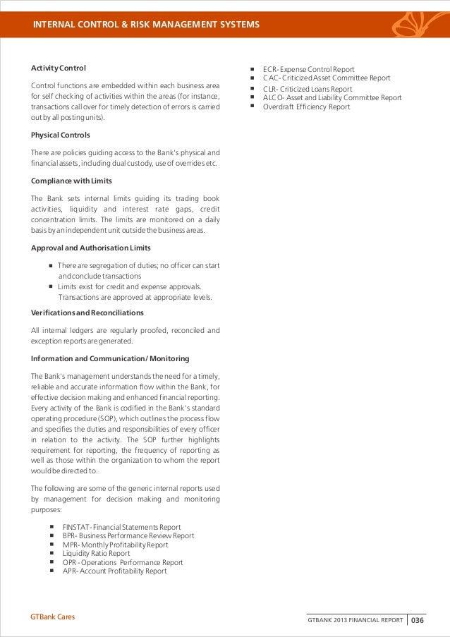 GTBank Annual Report 2013