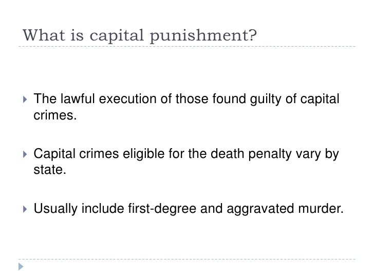 Dissertation in death penalty
