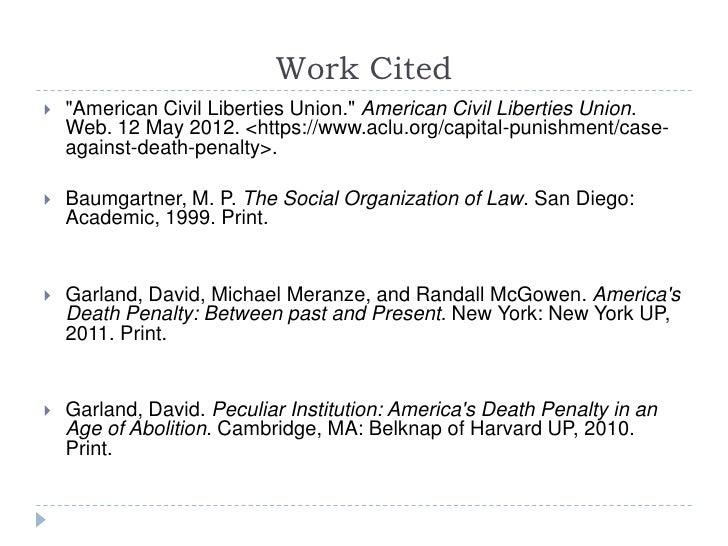 death penalty paper conclusion