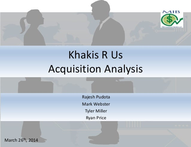 Merger And Acquisition Analysis 113