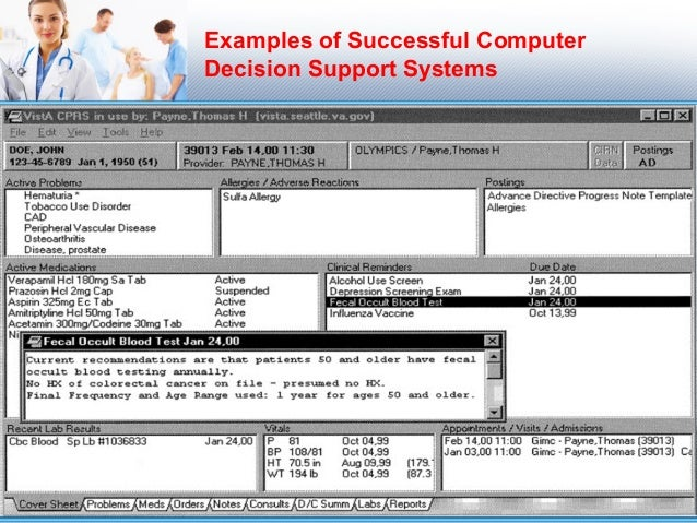 Medical Applications of Decision Support System DSS