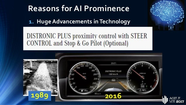 Reasons for AI Prominence 2. Exceptional (Exponential) Growth in Computing Power 1980's – 3 CRAY Supercomputers 2017 – iPh...