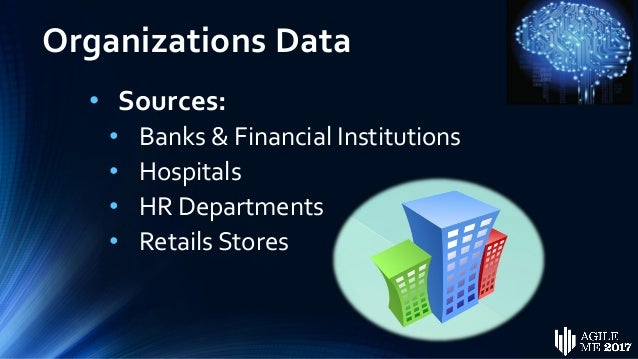 Organizations Data • Characteristics: • Structured • In Silos • Variability