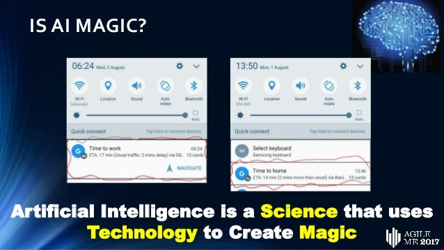 IS AI MAGIC? Artificial Intelligence is a Science that uses Technology to Create Magic