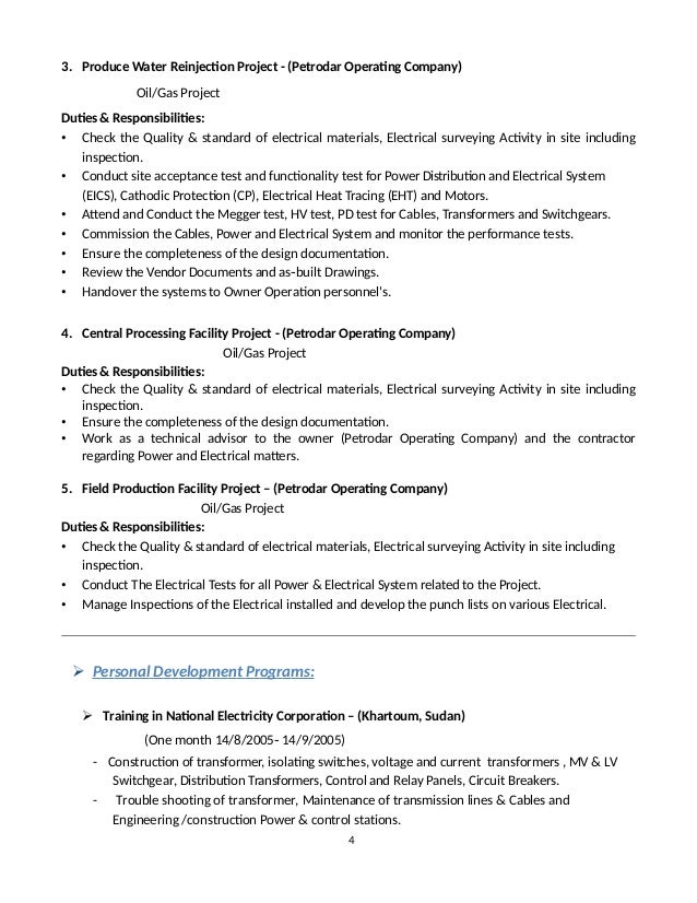 chief operating engineer job description. 3 4 3. project electrical ...