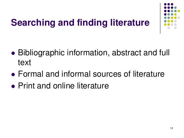 Effective Literature Review in Biology