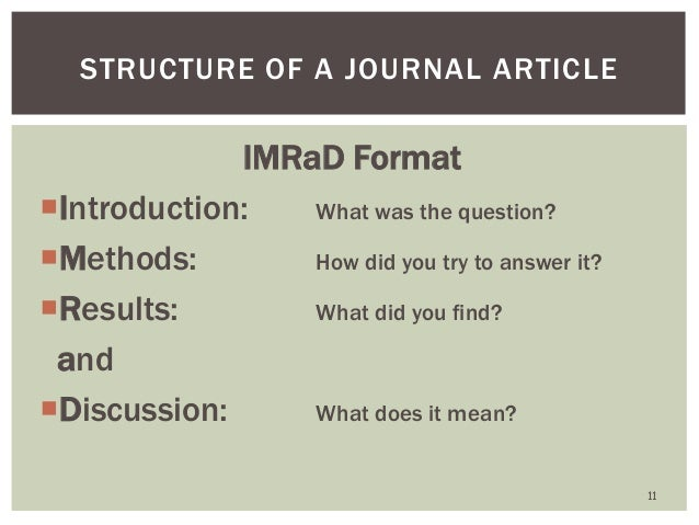 how to write an introduction for a journal article