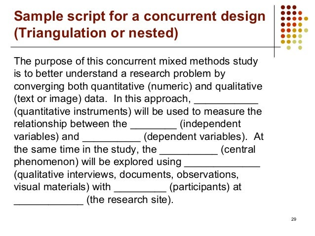 mixed methods research a discussion paper Mixed methods research has the capacity to overcome problems inherent in the   consider expert opinion, discussion papers, position papers and other text.