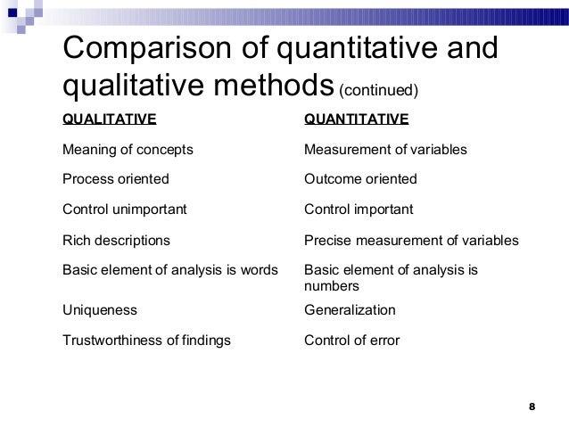 compare and contrast qualitative and quantitative research essay