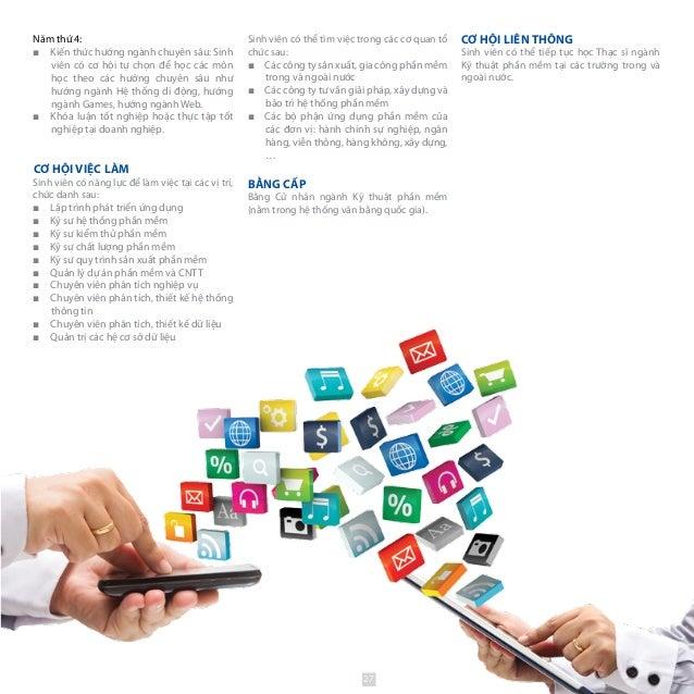 Sinh viên có thể tìm việc trong các cơ quan tổ chức sau: ■■ Các công ty sản xuất, gia công phần mềm trong và ngoài nước ■■...