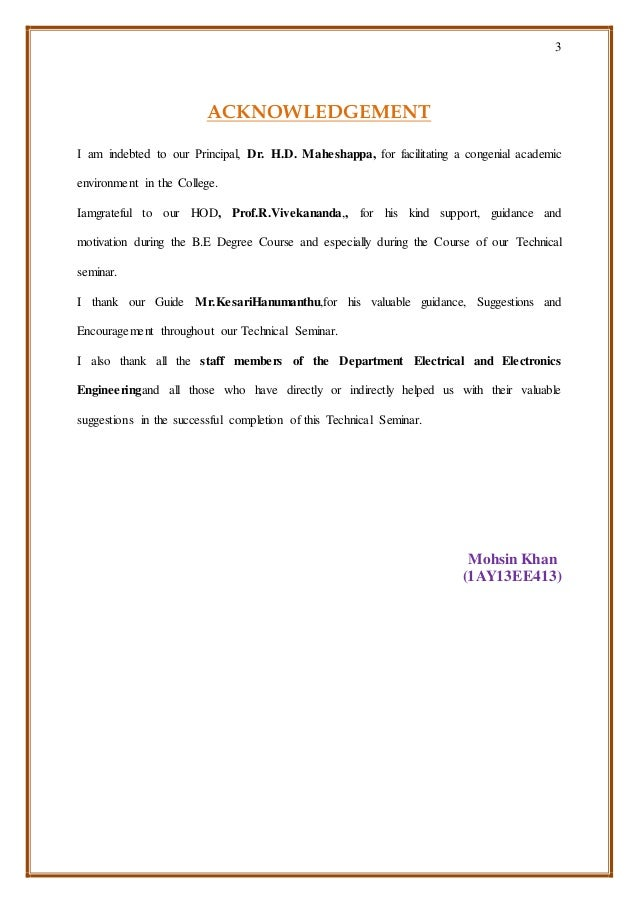 3 ACKNOWLEDGEMENT I am indebted to our Principal, Dr. H.D. Maheshappa, for facilitating a congenial academic environment i...