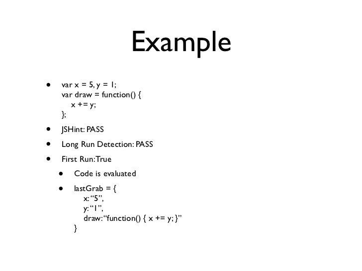 Example Var X 5