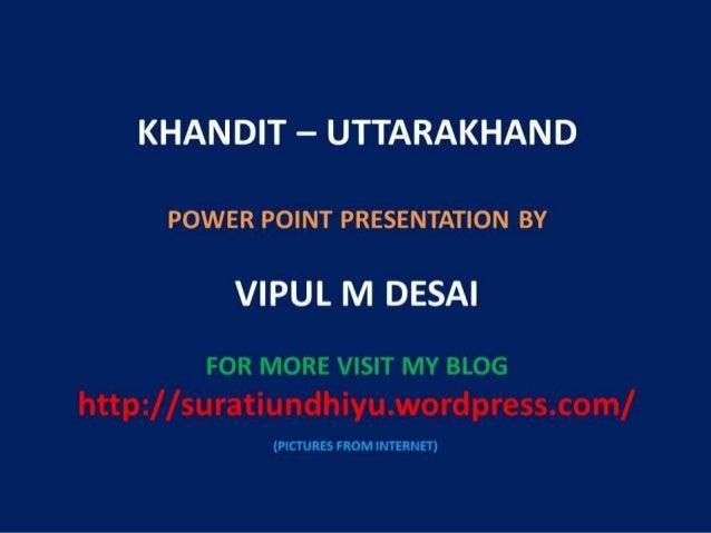 Khandit uttarakhand