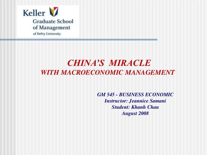 China Economic Outlook