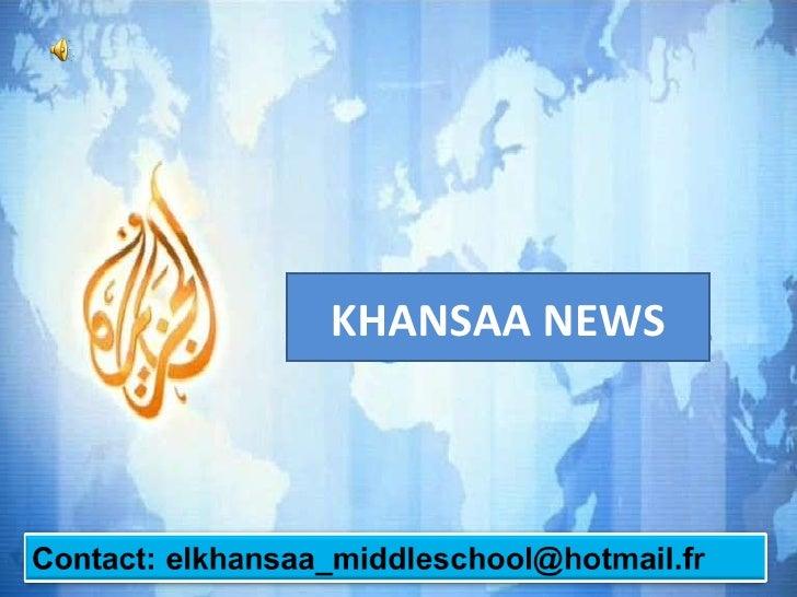 KHANSAA NEWS