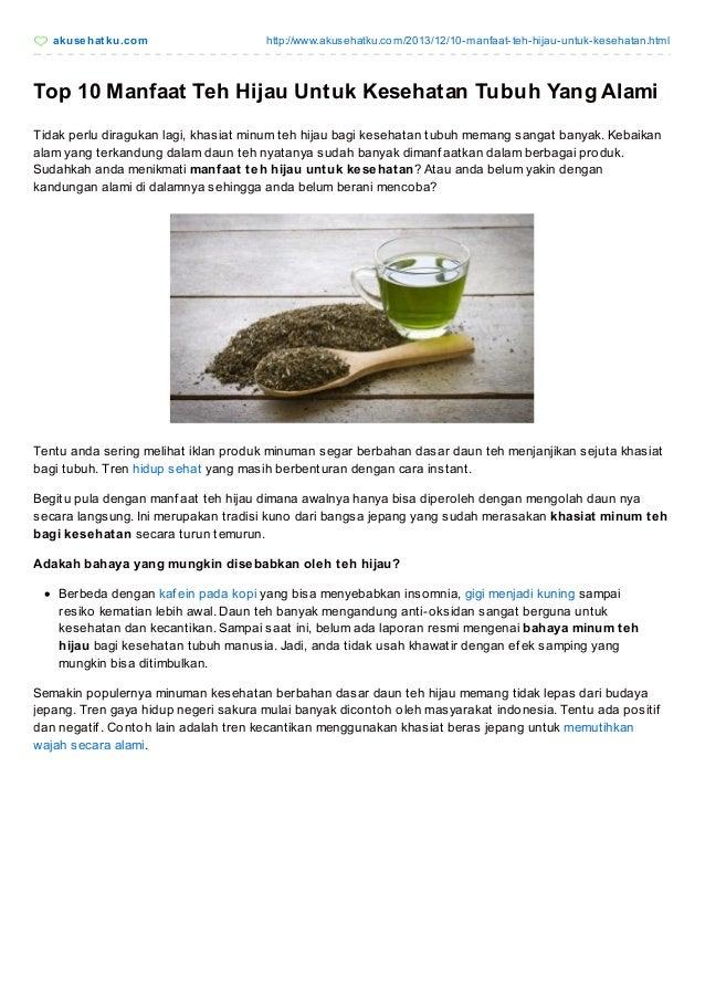 89 Manfaat Teh Hijau Untuk Diet Super Cepat