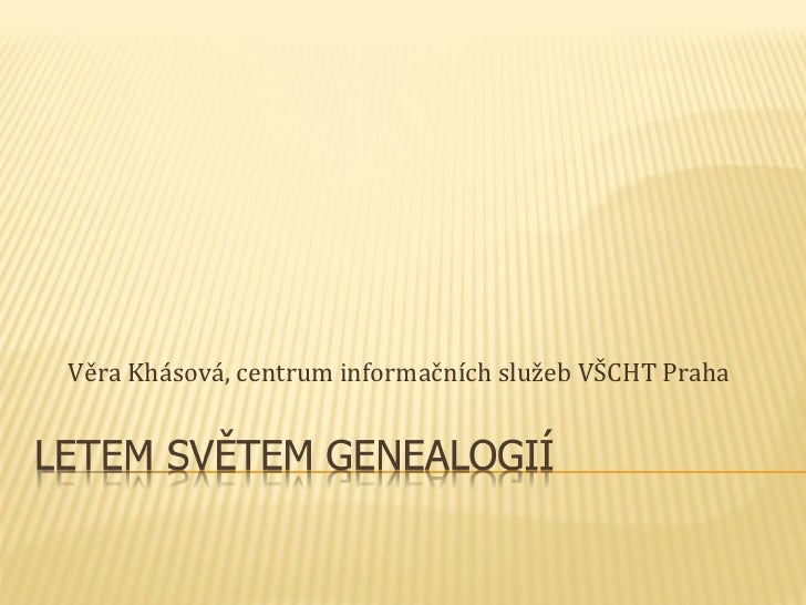 Věra Khásová, centrum informačních služeb VŠCHT Praha