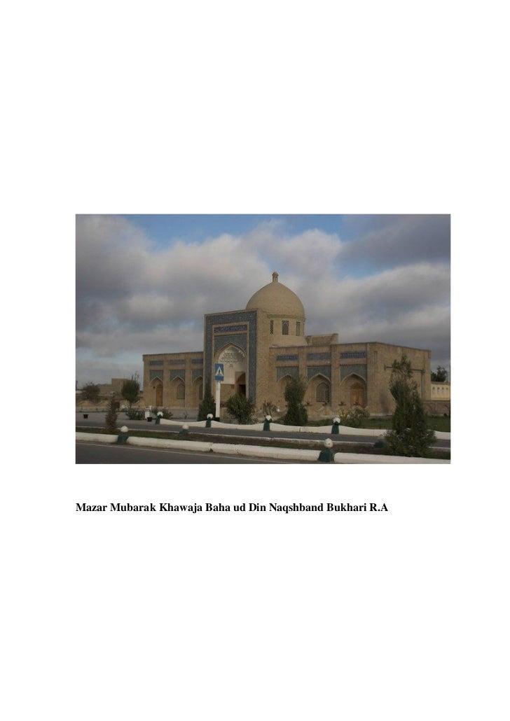 Mazar Mubarak Khawaja Baha ud Din Naqshband Bukhari R.A