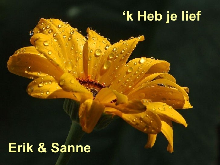 ' k Heb je lief Erik & Sanne