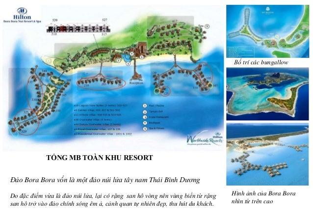 Địa hình: vừa có núi vừa có biển. Các bungalow ở bờ biển Bãi biển xanh cát trắng Đảo được bao bọc bởi một đầm phá và một r...