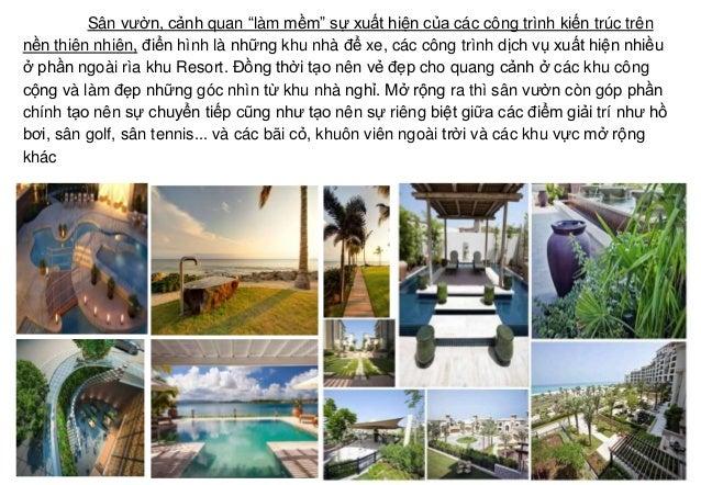 """Sân vườn, cảnh quan """"làm mềm"""" sự xuất hiện của các công trình kiến trúc trên nền thiên nhiên, điển hình là những khu nhà đ..."""