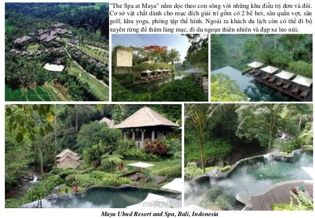 """Maya Ubud Resort and Spa, Bali, Indonesia """"The Spa at Maya"""" nằm dọc theo con sông với những khu điều trị đơn và đôi. Cơ sở..."""