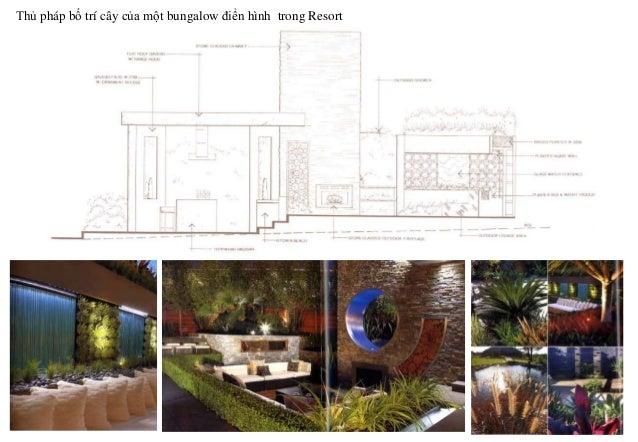 Thủ pháp bố trí cây của một bungalow điển hình trong Resort