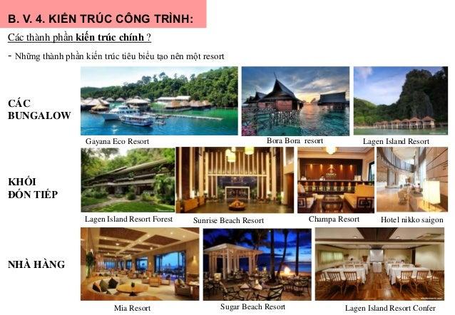 B. V. 4. KIẾN TRÚC CÔNG TRÌNH: Các thành phần kiến trúc chính ? - Những thành phần kiến trúc tiêu biểu tạo nên một resort ...