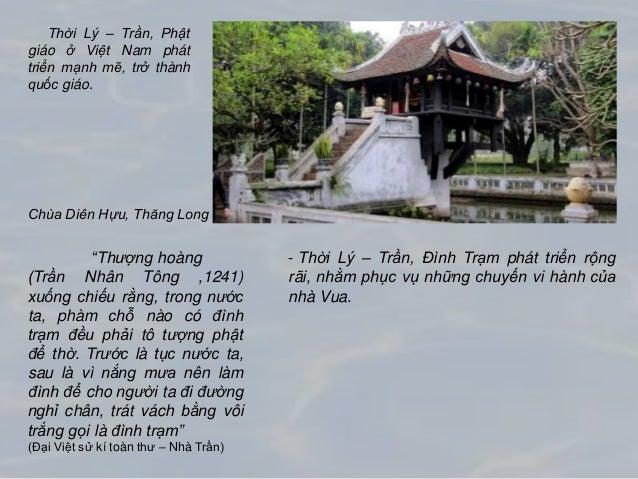 """""""Thượng hoàng (Trần Nhân Tông ,1241) xuống chiếu rằng, trong nước ta, phàm chỗ nào có đình trạm đều phải tô tượng phật để ..."""