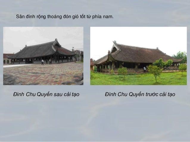 Một số hình ảnh cải tạo đình Chu Quyến
