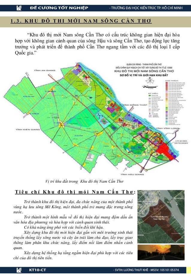 """Vị trí khu đất trong Khu đô thị Nam Cần Thơ 1 . 3 . K H U Đ Ô T H I M Ớ I N A M S Ô N G C Ầ N T H Ơ """"Khu đô thị mới Nam sô..."""