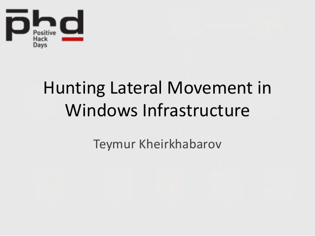 Hunting Lateral Movement in Windows Infrastructure Teymur Kheirkhabarov