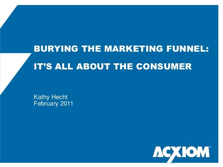 BURYING THE MARKETING FUNNEL: <br />IT'S ALL ABOUT THE CONSUMERKathy Hecht<br />February 2011<br />®<br />1<br />