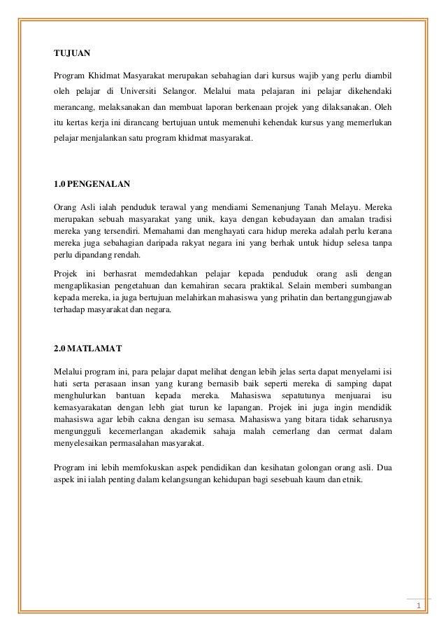 program khidmat masyarakat karangan