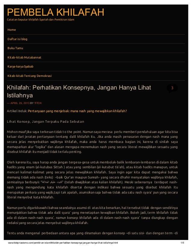 www.titokpriastomo.com/pemikiran-islam/khilafah-perhatikan-konsepnya-jangan-hanya-lihat-istilahnya.html 1/5PEMBELA KHILAFA...