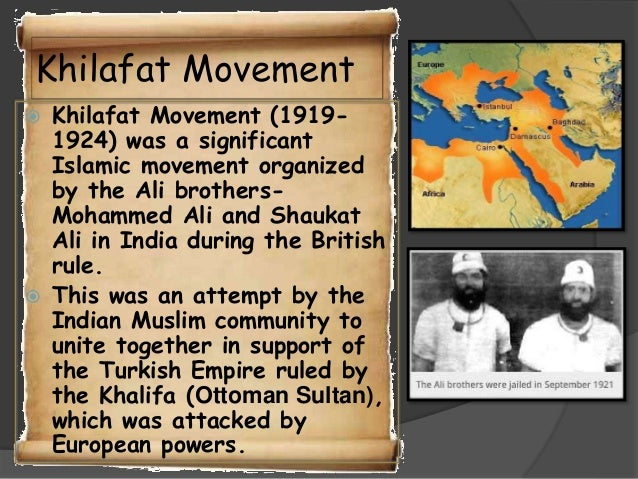 short essay khilafat movement
