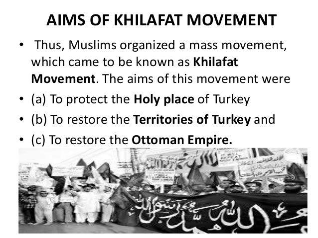 khilafat movement summary