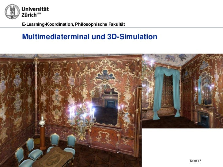 E-Learning-Koordination, Philosophische FakultätMultimediaterminal und 3D-Simulation29.03.2012   Museale Kunstvermittlung ...