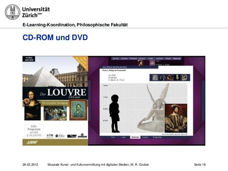 E-Learning-Koordination, Philosophische FakultätCD-ROM und DVD29.03.2012   Museale Kunst- und Kulturvermittlung mit digita...