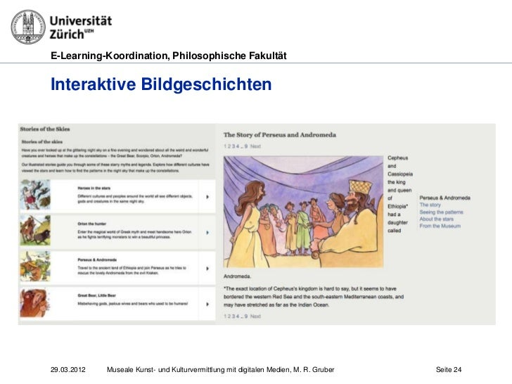 E-Learning-Koordination, Philosophische FakultätInteraktive Bildgeschichten29.03.2012   Museale Kunst- und Kulturvermittlu...