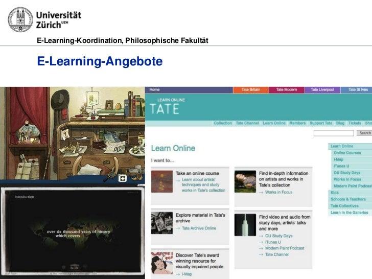 E-Learning-Koordination, Philosophische FakultätE-Learning-Angebote29.03.2012                                         Seit...